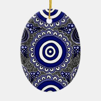 Ornamento De Cerâmica Arte aborígene autêntica - recolhendo
