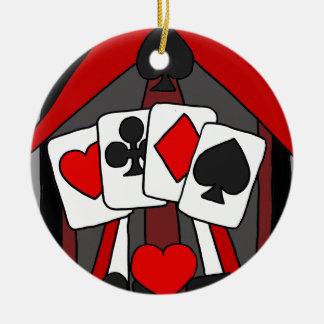 Ornamento De Cerâmica Arte abstracta artística dos cartões de jogo do