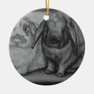Ornamento De Cerâmica Arte animal do giz do coelho do desenho do coelho