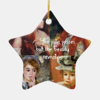 Ornamento De Cerâmica Arte, beleza e amor em pinturas de Renoir