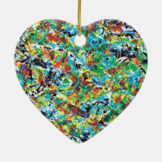 Ornamento De Cerâmica Arte colorida do teste padrão de flor do primavera