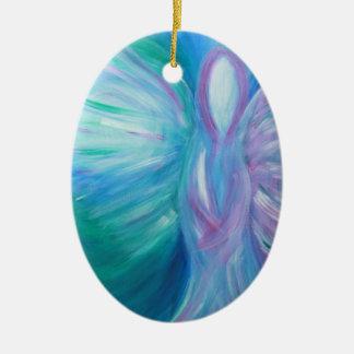 Ornamento De Cerâmica Arte cura lunática de anjo azul