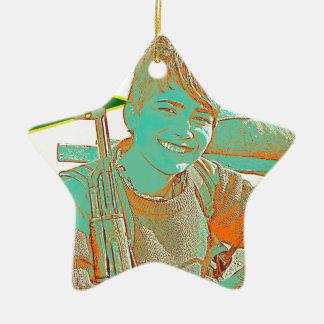 Ornamento De Cerâmica Arte curdo 2 do lutador 3 de YPJ