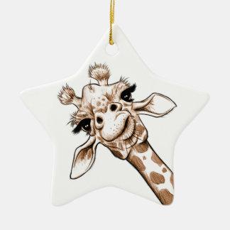 Ornamento De Cerâmica Arte curiosa do girafa