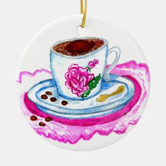 Ornamento De Cerâmica Arte da chávena de café