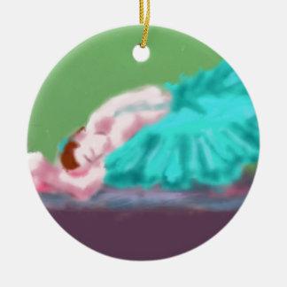 Ornamento De Cerâmica Arte de descanso do balé