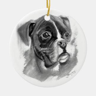 Ornamento De Cerâmica Arte do cão do pugilista