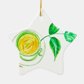 Ornamento De Cerâmica Arte do chá verde