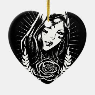 Ornamento De Cerâmica Arte do Chicano de Mary da mãe