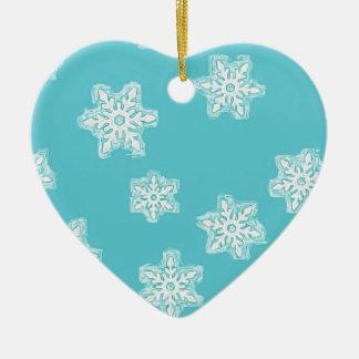 Ornamento De Cerâmica Arte do floco de neve