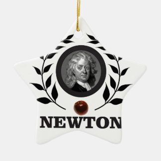 Ornamento De Cerâmica arte do newton da maçã
