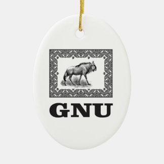 Ornamento De Cerâmica Arte do poder do Gnu