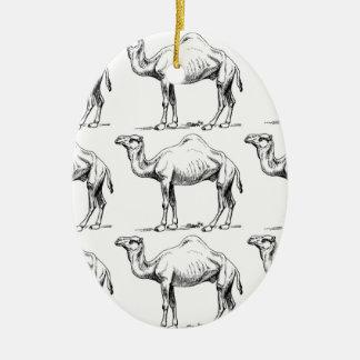 Ornamento De Cerâmica Arte do rebanho do camelo