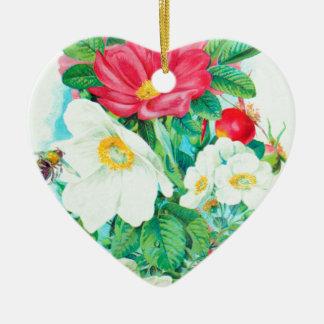 Ornamento De Cerâmica arte do rosa de chá