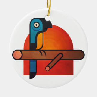 Ornamento De Cerâmica Arte dos desenhos animados do papagaio