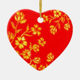 Ornamento De Cerâmica Arte dourada 3 de Sakura