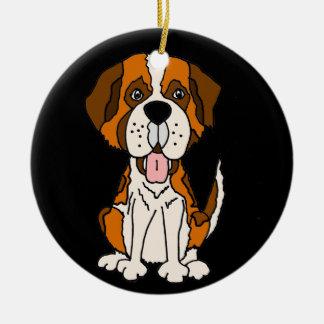 Ornamento De Cerâmica Arte engraçada do cão de filhote de cachorro de St