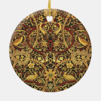 Ornamento De Cerâmica Arte floral da tapeçaria de William Morris