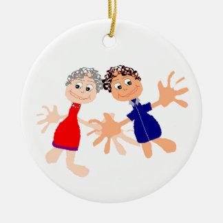 Ornamento De Cerâmica Arte gráfica - dois amigos