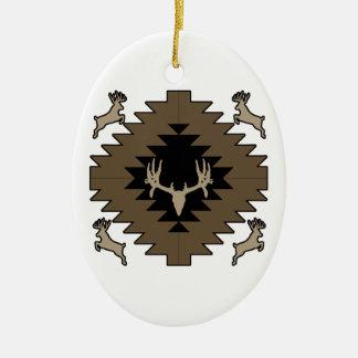 Ornamento De Cerâmica Arte indiana americana dos cervos do fanfarrão