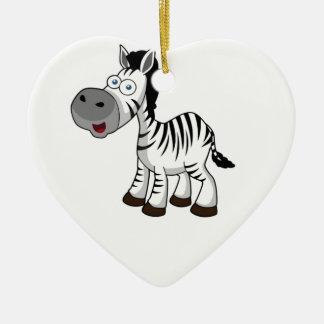 Ornamento De Cerâmica arte listrada da zebra