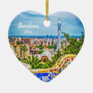 Ornamento De Cerâmica Arte moderna original da foto de Barcelona