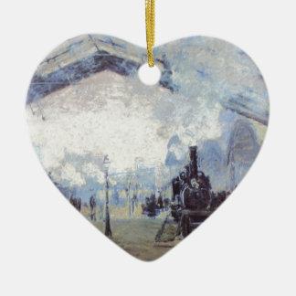 Ornamento De Cerâmica Arte popular do vintage do estação de