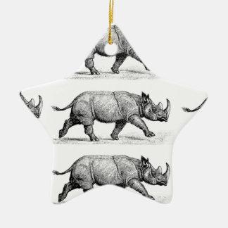 Ornamento De Cerâmica Arte Running dos Rhinos