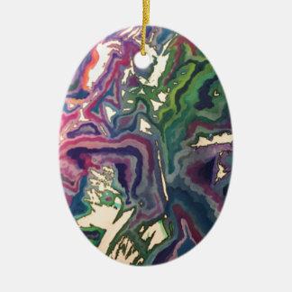 Ornamento De Cerâmica Arte topográfica IV do lenço de papel