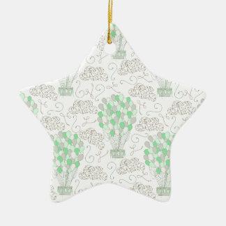 Ornamento De Cerâmica Arte verde da decoração do berçário dos balões de