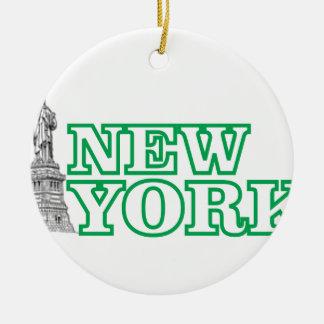 Ornamento De Cerâmica arte verde da estátua da liberdade