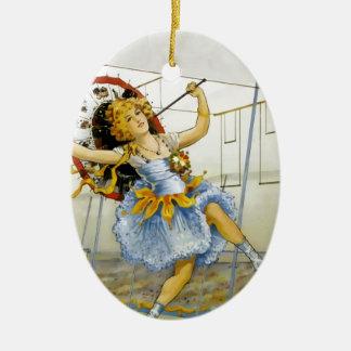 Ornamento De Cerâmica Artista de Trapeeze