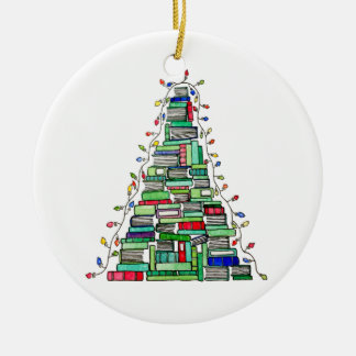 Ornamento De Cerâmica Árvore 2017 do livro de Natal