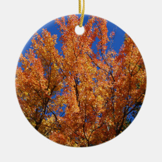 Ornamento De Cerâmica Árvore alaranjada do fogo