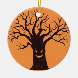 Ornamento De Cerâmica Árvore assustador do Dia das Bruxas