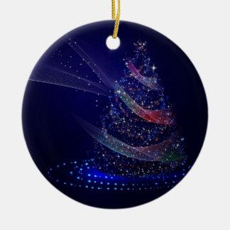 Ornamento De Cerâmica Árvore azul bonita