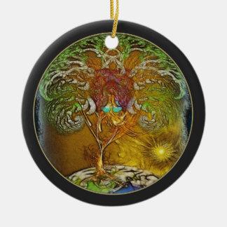 Ornamento De Cerâmica Árvore da ilustração da vida