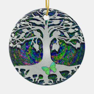 Ornamento De Cerâmica Árvore de começos novos da vida por Amelia Carrie