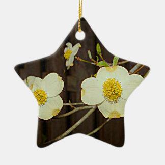 Ornamento De Cerâmica Árvore de Dogwood de florescência de Missouri