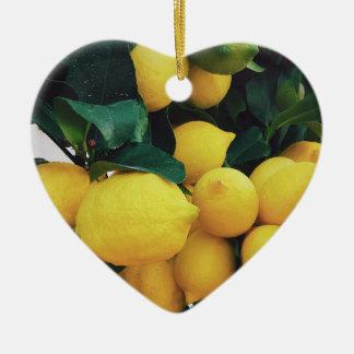 Ornamento De Cerâmica Árvore de fruta do limão