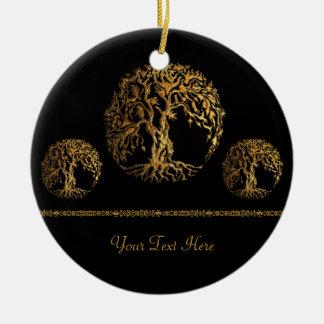 Ornamento De Cerâmica Árvore de Mehndi de vida (ouro)