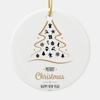Ornamento De Cerâmica Árvore de Natal elegante e original simples