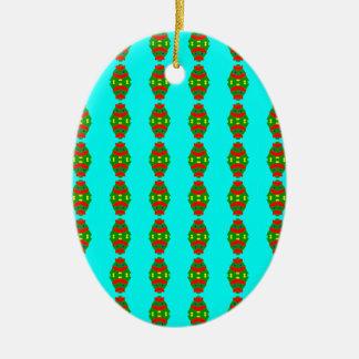 Ornamento De Cerâmica árvore de Natal feliz