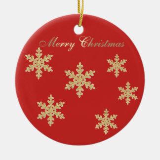 Ornamento De Cerâmica Árvore de Natal Glittery bonito do ouro do falso,
