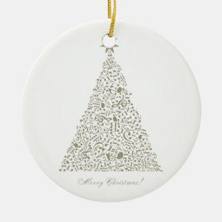 Ornamento De Cerâmica Árvore de Natal musical
