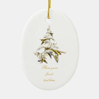 Ornamento De Cerâmica Árvore de Natal no branco 001