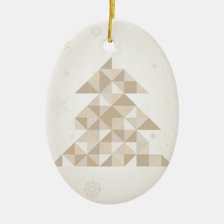 Ornamento De Cerâmica Árvore de Natal um triângulo