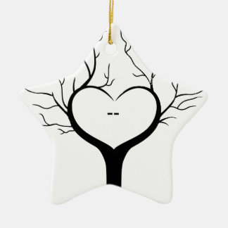 Ornamento De Cerâmica Árvore de Thumbprint