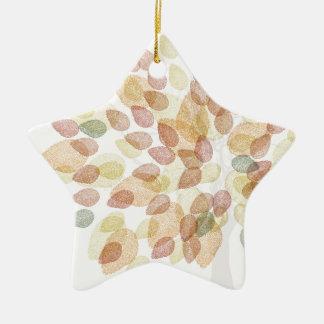 Ornamento De Cerâmica Árvore de vidoeiro em cores da queda