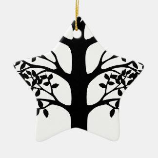 Ornamento De Cerâmica Árvore do coração com raizes